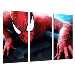 cuadros de superhéroes en tres partes