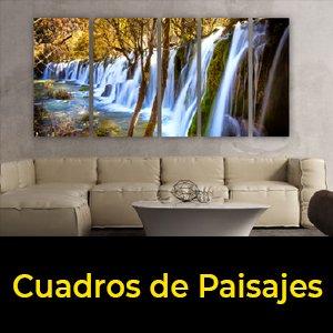 cuadros tripticos de paisajes